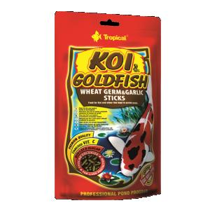Tropical KOI & GoldFish Wheat Germ & Garlic Sticks корм для рыбок 21 л