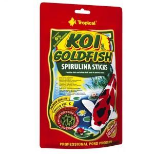 Tropical KOI & GoldFish Spirulina Sticks корм для рыбок 5 л