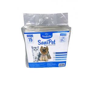 Гигиенические пеленки для собак Sani Pet 60х60 см 15 штук