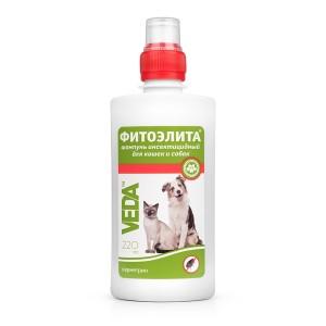 Шампунь Veda Фитоэлита инсектицидный для защиты от блох, вшей, власоедов для собак, 220 мл