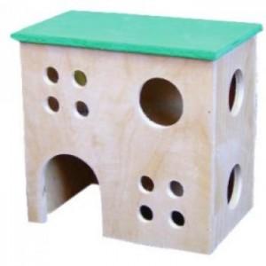 Домик для крысы 2-этажный Лори 16х10х16см