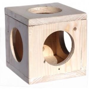 Домик подвесной Куб для шиншилл Лори 16х16см