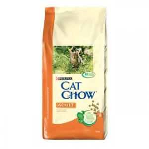 Cat Chow Adult с курицей и индейкой 15кг