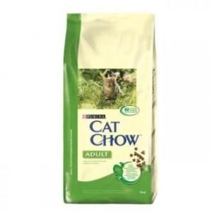 Cat Chow Adult с кроликом и печенью 15кг