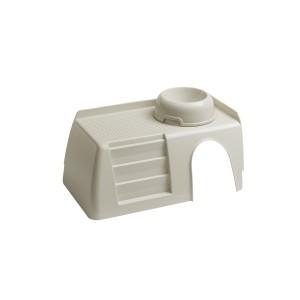 Пластиковый домик Ferplast Pub 3256 Withe Feeding Bowl для маленьких животных с лестницей и миской