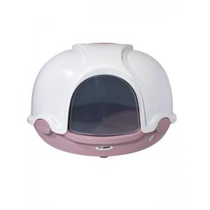 Imac Ginger Cat Розовый Туалет для котов закрытый c лопаткой 52*52*44,5см