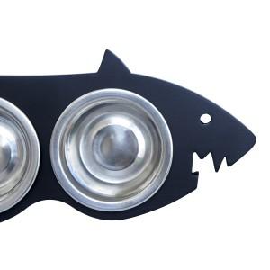 Миска для собак на подставке Shark