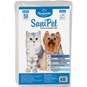 Гигиенические пеленки для кошек Sani Pet 45х60 см 50 штук